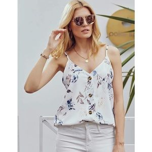 Relaxed floral button down